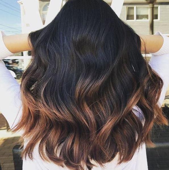 رنگ موی آمبره